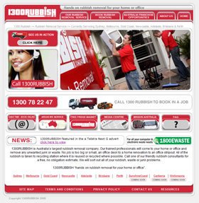 Post image for 1300RUBBISH – Business website