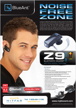 Post image for BlueAnt Z9 magazine advert – Canada