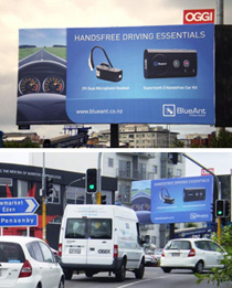 Billboard graphic design for BlueAnt - marketing