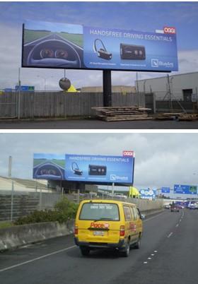 Billboard graphic design for BlueAnt