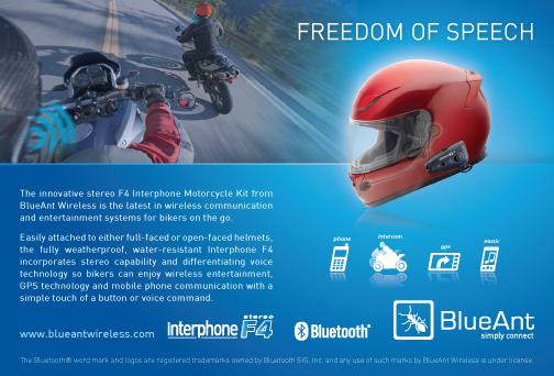 BlueAnt F4 magazine advertisement