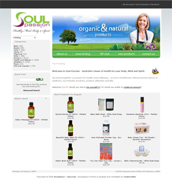 Post image for Soulpassion.com.au – online store
